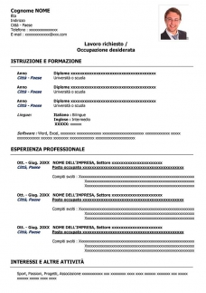 curriculum-classico-da-compilare-word