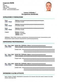 formato-curriculum-tradizionale-gratis