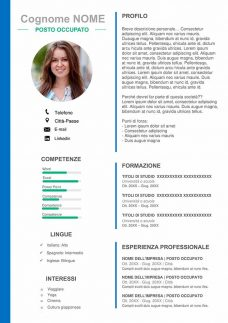 template cv word layout