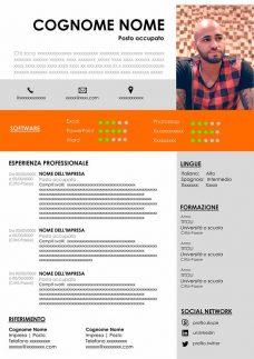 design di cv infografico in word