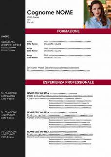 modello curriculum due-pagine