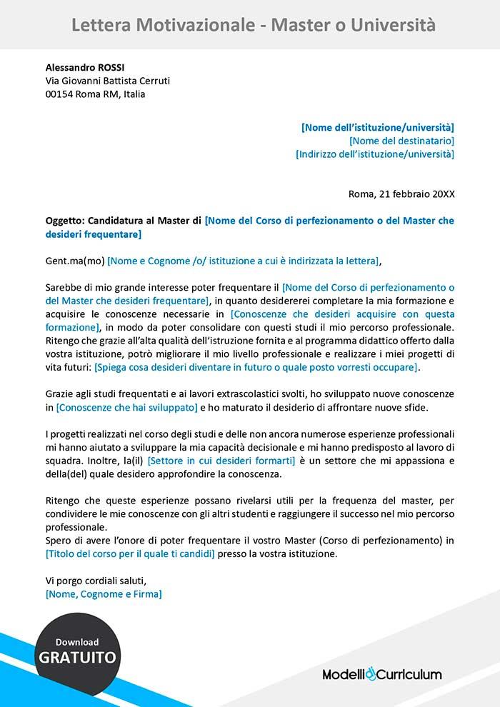 lettera-motivazionale-master-universita